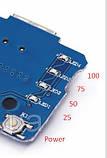 Плата Power Bank Зарядка Li-ion 4.2V, Выход 2USB 5V 1A-2A фонарик, фото 2