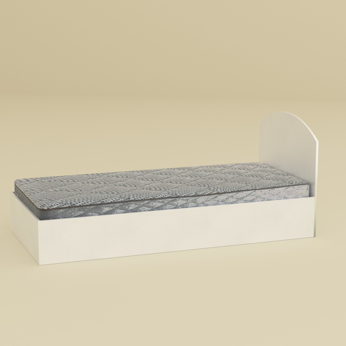 Кровать 90 нимфея альба (белый) Компанит (94х204х85 см)
