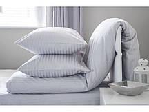 Элитный комплект постельно белья страйп-сатин полуторный