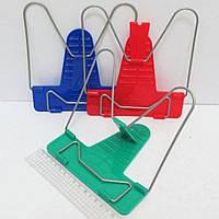 Подставка для книг пластиковая металлическая Микс с пластиковым регулятором 34002
