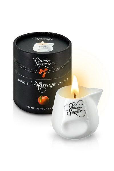 Массажная свеча Plaisirs Secrets Peach Персик (80 мл). Свечи для массажа