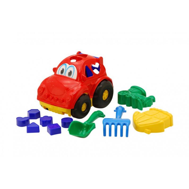 """Машина сортер, """"Автошка"""" №2, машина з вкладишами COLORPLAST 0299, мікс кольорів, 17x22x15 см"""