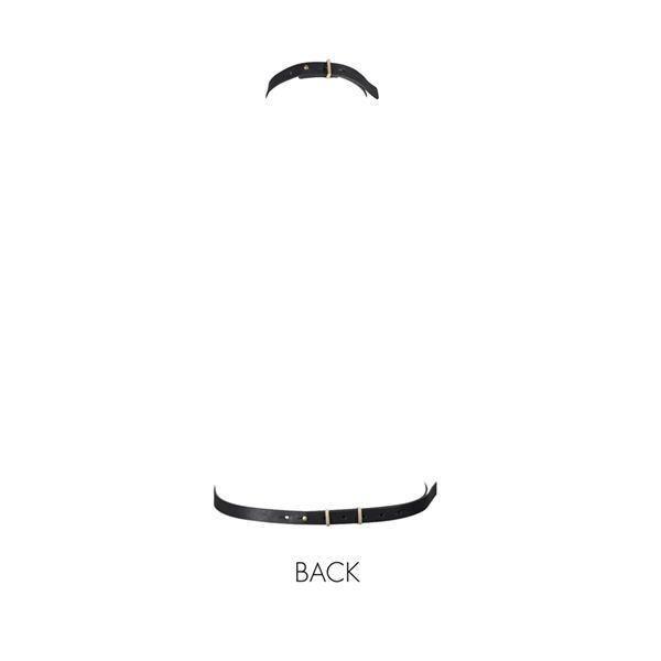 Портупея из полиуретана под кожу Bijoux Indiscrets MAZE - I Harness Black Черная. Портупеи