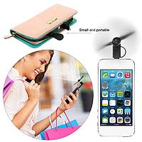 Мини вентилятор для iPhone Mini Fan iOS Белый
