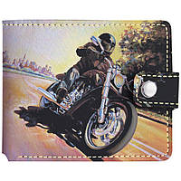 Кошелёк Мотоцикл на скорости (эко-кожа)