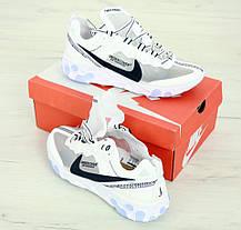 Мужские кроссовки Undercover x Nike React Element 87 White. ТОП Реплика ААА класса., фото 2
