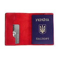 Обложка для паспорта Grande Pelle 252660 красная глянц