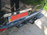 Хром накладка на задний бампер Mercedes Sprinter 2006-...