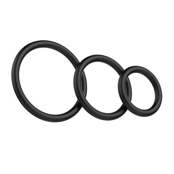 Набор эрекционных колец для пениса 3 шт BI-026013. Эрекционные кольца без вибрации