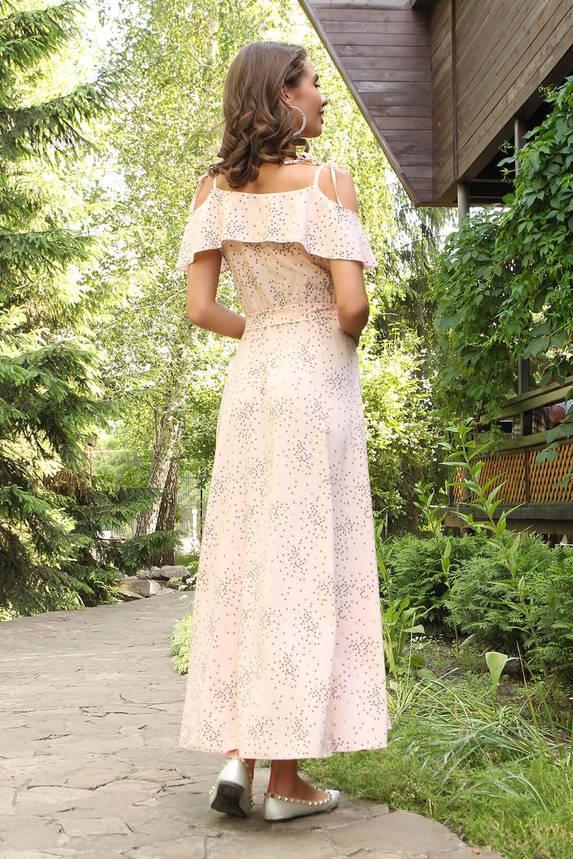 Летнее платье-сарафан длинное с запахом розовое, фото 2