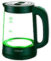 Электрический чайник стеклянный Hilton HEK-175 1 7 л 2200 Вт