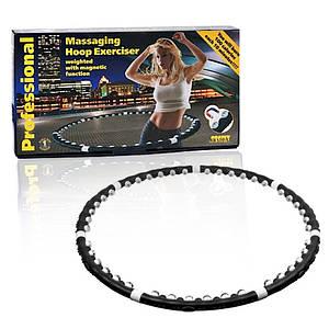 Массажный обруч хулахуп разборной Massaging Hula Hoop Exerciser черный 130256