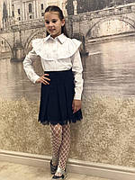 Школьная белая блузка, фото 1