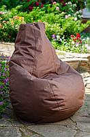 Кресло груша мешок бескаркасное кресло пуф L Оксфорд коричневый