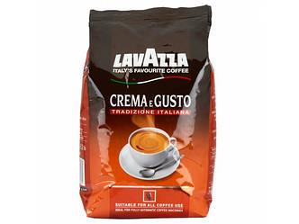 Кофе в зернах Lavazza CREMA e GUSTO Tradizione Italiana 1кг Оригинал, Италия