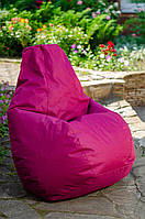 Кресло груша мешок бескаркасное кресло пуф L Оксфорд бордо