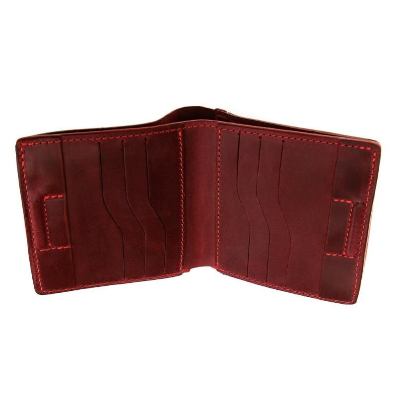 Портмоне Grande Pelle Lettera 537161 с монетницей бордо