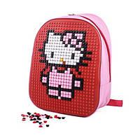 Школьный рюкзак CRM Canta. Рюкзак конструктор с пикселями Hello Kitty