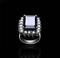 Золотое кольцо с сапфиром и бриллиантами Гелеос-8 размер 17 С18Л24, КОД: 957837