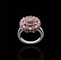 Золотое кольцо с бриллиантами Гелеос-8 размер 17 С18Л32, КОД: 957830