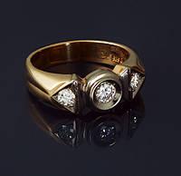 Золотое кольцо с бриллиантами Гелеос-8 размер 18.5 С37Л110, КОД: 957819