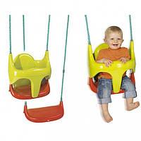 Качели детские пластиковые подвесные на тропах со съемным сиденьем Smoby 310194, фото 1