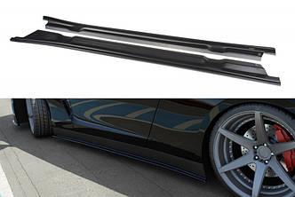 Сплиттер элерон под пороги Nissan GT-R R35 (07-10)