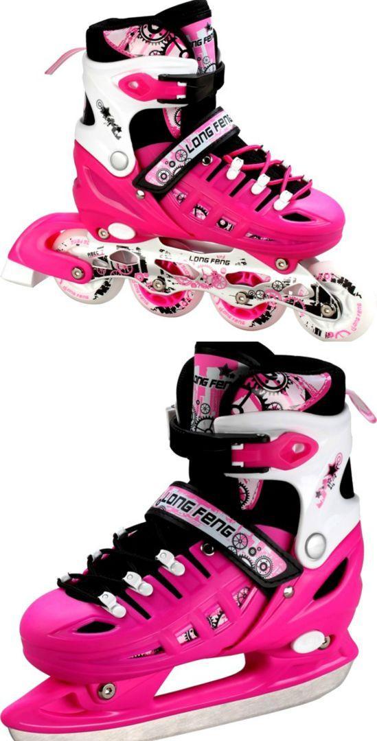 Детские ролики-коньки Scale Sport. Pink (2в1), размер 34-37