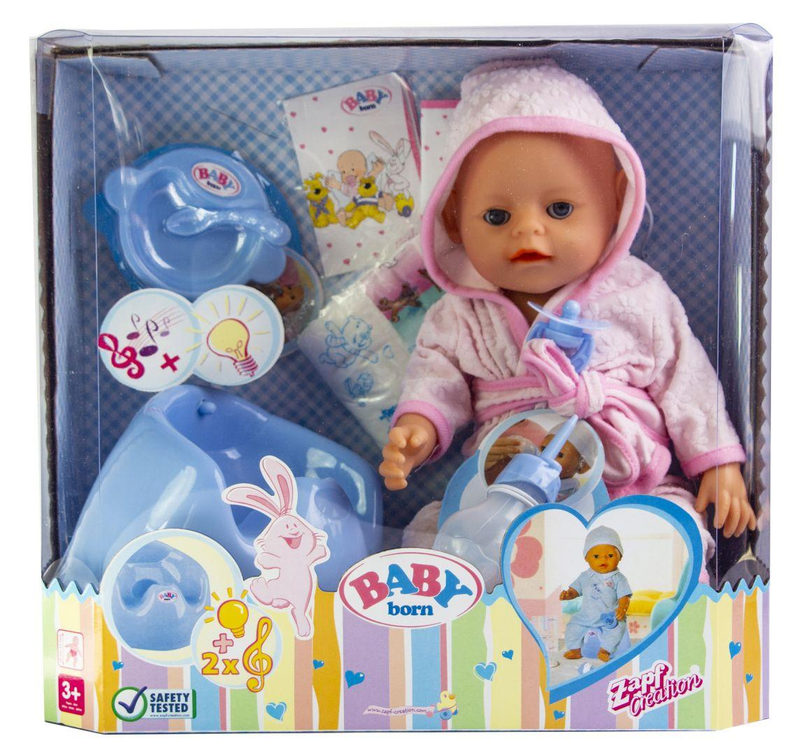 Кукла Baby Born (Бейби Борн) с аксессуарами, музыкальный горшок (K152)