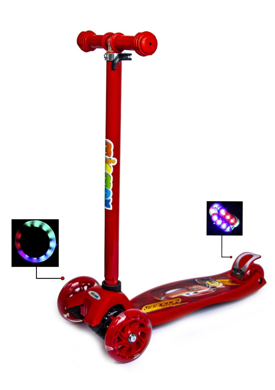 Самокат Maxi Scooter Disney. Тачки Молния Маквин