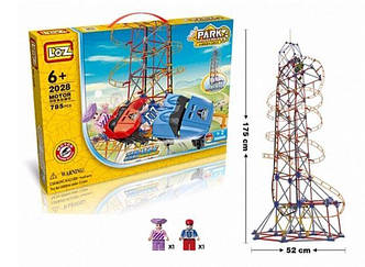 "Электромеханический конструктор LoZ ""AMUSEMENT PARK ROLLER COASTER"" 785 ДЕТАЛЕЙ"
