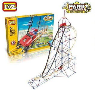 "Электромеханический конструктор LoZ ""AMUSEMENT PARK ROLLER COASTER"" 534 ДЕТАЛИ"