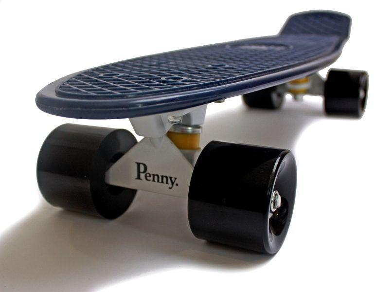 Penny Board. Темно-синий цвет. Черные колеса.