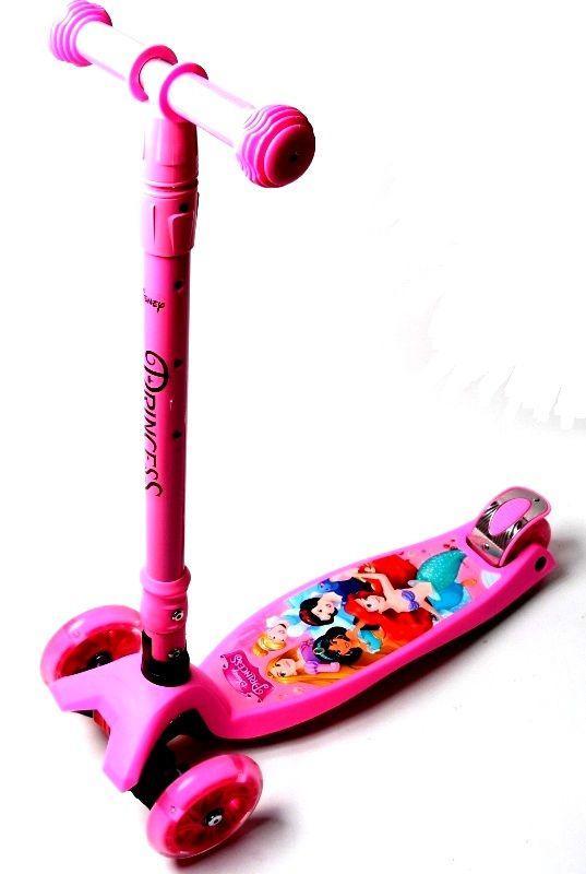 Самокат Maxi Scooter Disney. Русалочка Ариэль с наклоном руля и складной ручкой