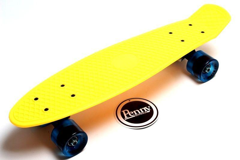 Penny Board. Желтый цвет. Гравировка