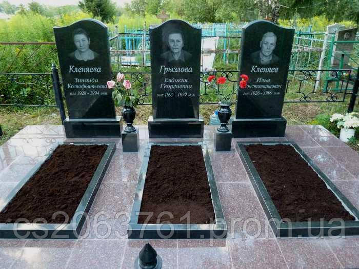 """Тройной памятник """"Стандарт"""" - STONE AGE в Житомирской области"""