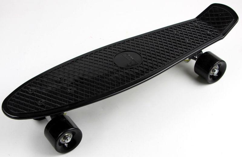 Penny Board. Черный цвет. Черные колеса.