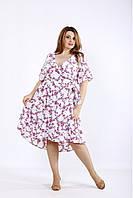 01223-3 | Легкое летнее платье с малиновыми цветами