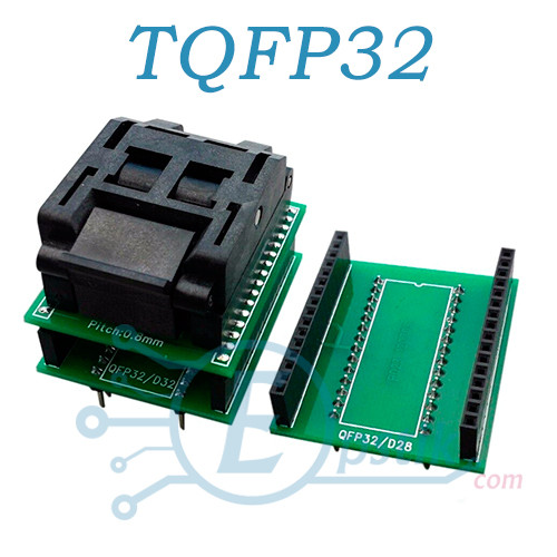 Адаптер микросхем TQFP32 в DIP28/32