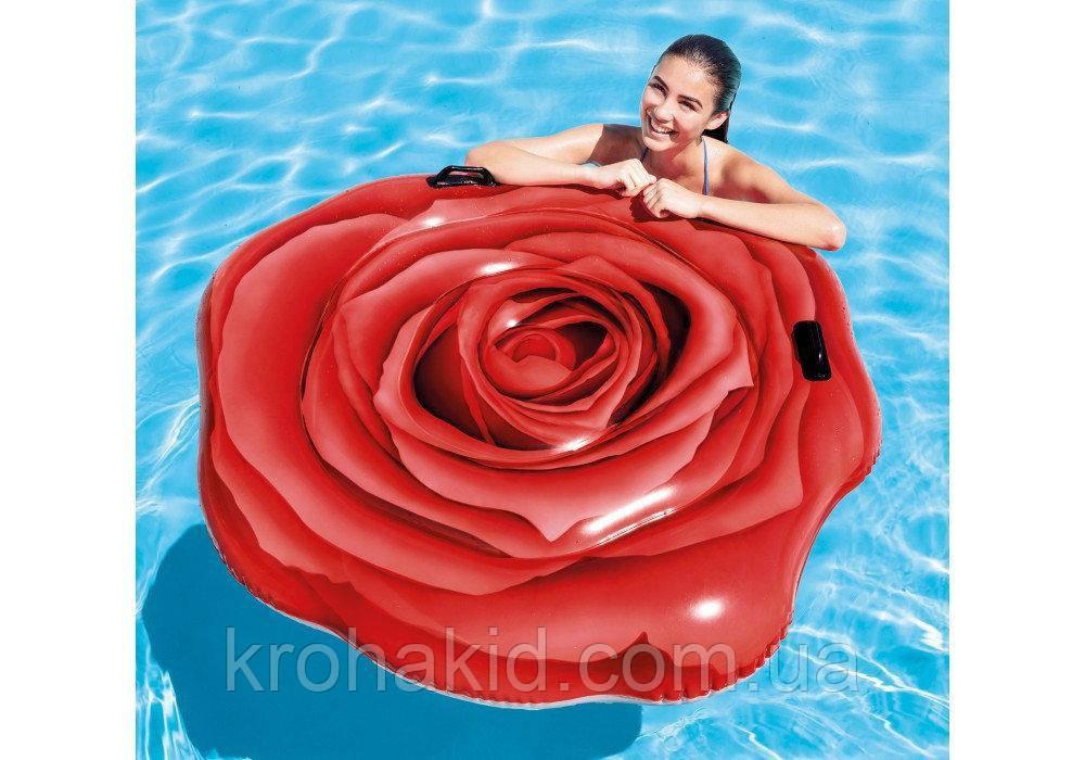 Матрас / надувной плотик 58783  Красная роза, 137-132см