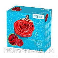 Матрас / надувной плотик 58783  Красная роза, 137-132см, фото 2