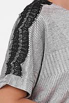 Костюм юбочный Катарина серебро Размеры 48, 50, 52, 54, 56, фото 3