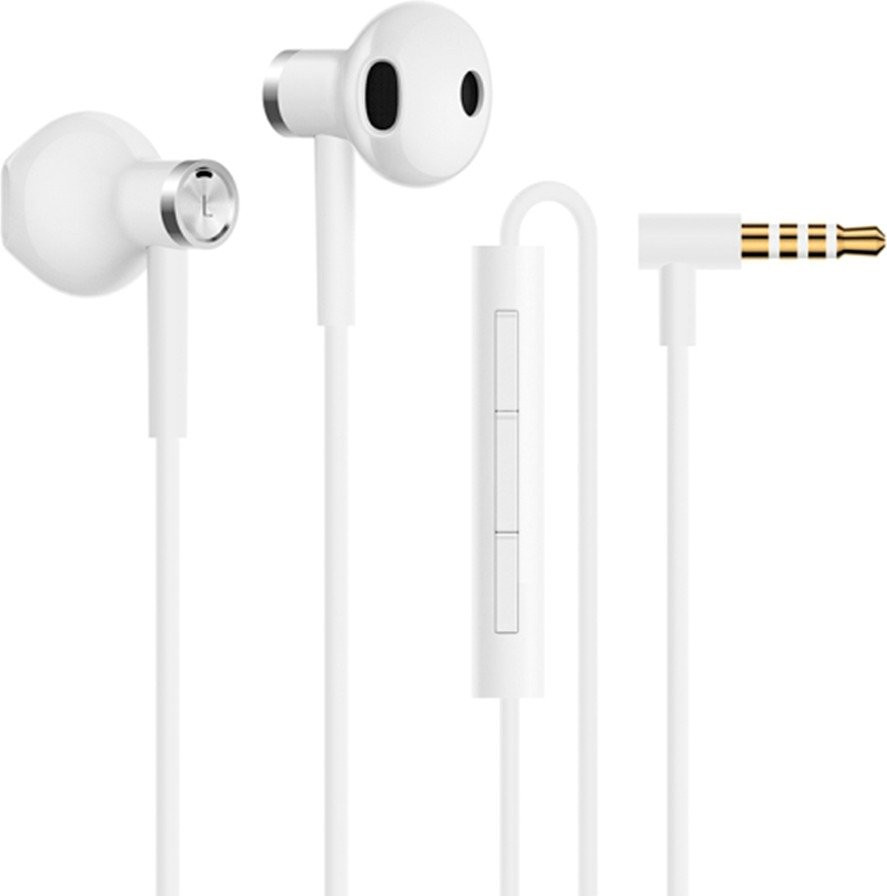 Наушники Xiaomi Mi Dual Drive Earphones Белые (BRE01JY / WHITE)