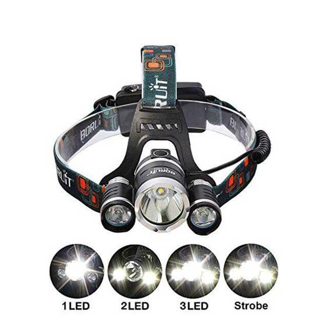 Мощный налобный LED фонарь BL 3000 T6