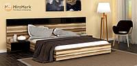 Кровать подъемная двуспальная Sonata (Соната) 1.6м Глянец Черный (МироМарк)