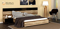 Ліжко підйомна двоспальне Sonata (Соната) 1.6 м Глянець Чорний (МироМарк), фото 1