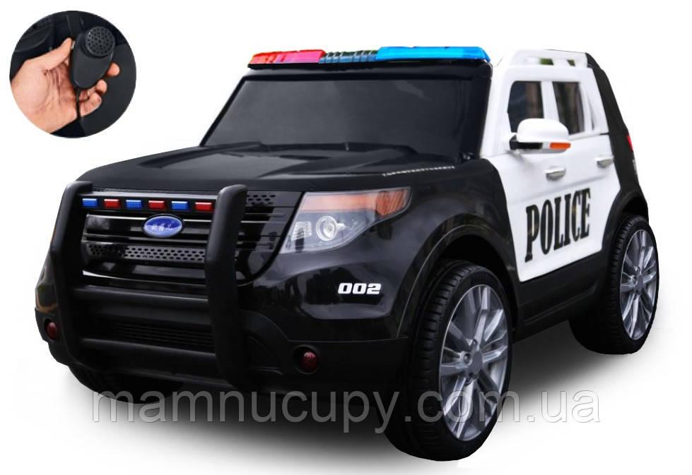 Детский электромобиль Police Ford Explorer CH9935 с громкоговорителем