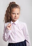 Блузка-рубашка Свит блуз  в розовом цвете с  мод. 8011 р.128