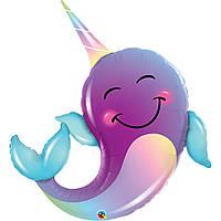 Куля фольга фігурки велика Дельфін 3207-2221