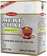 """Чай черный индийский """"MeriChai"""" 100г с """"Бергамотом"""" (+ложка)"""